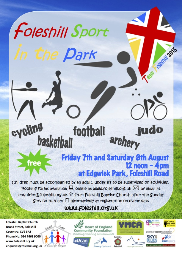 Sport in the Park 2015 - Flyer 1